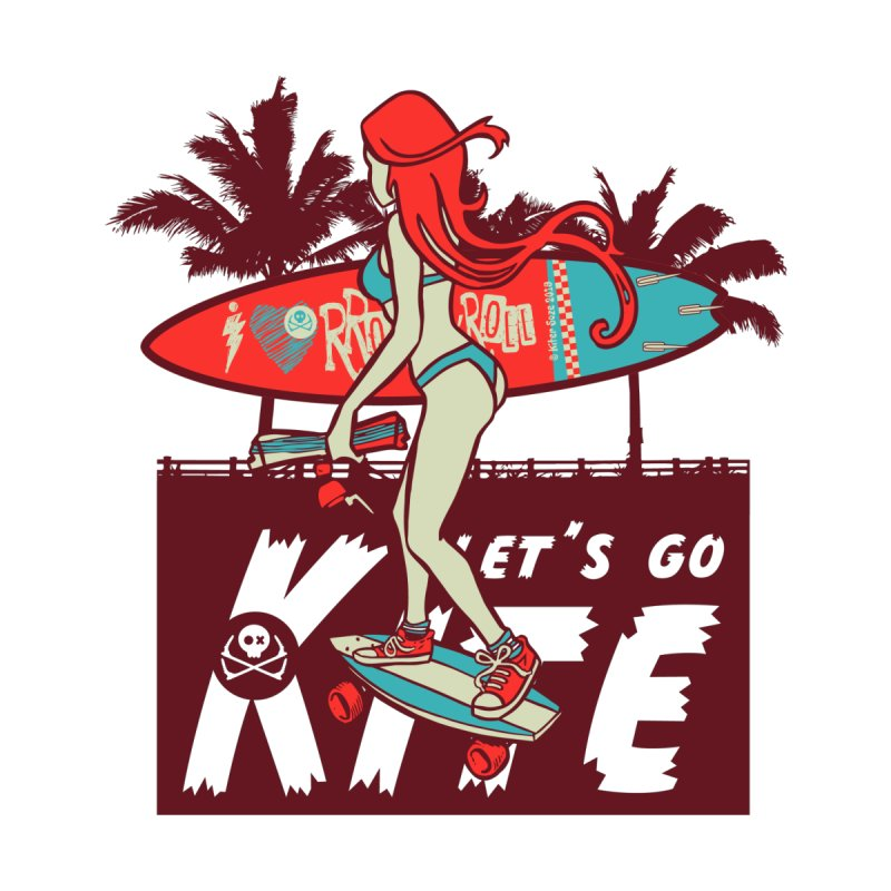 Skate Kitegirl Kids T-Shirt by kitersoze
