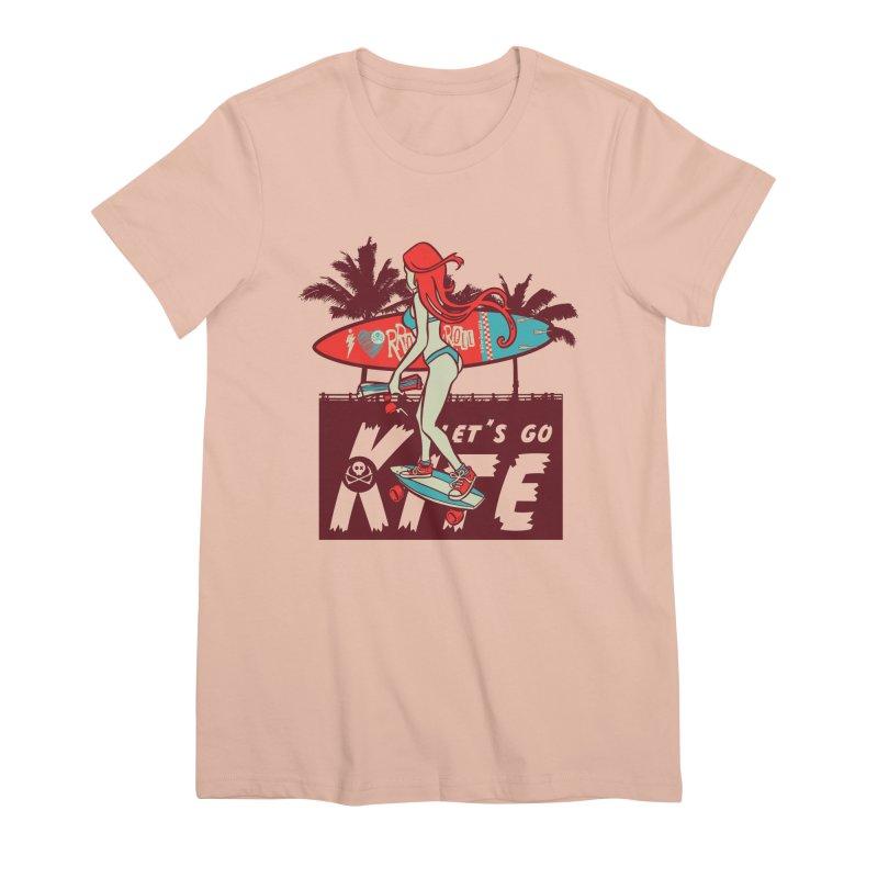 Skate Kitegirl Women's Premium T-Shirt by kitersoze