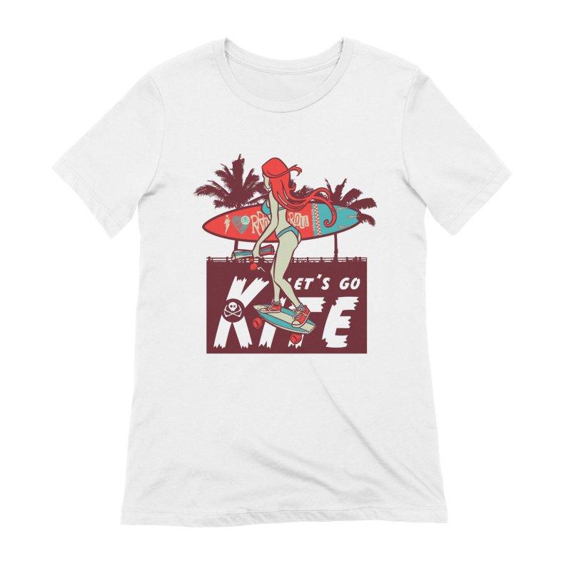 Skate Kitegirl Women's Extra Soft T-Shirt by kitersoze