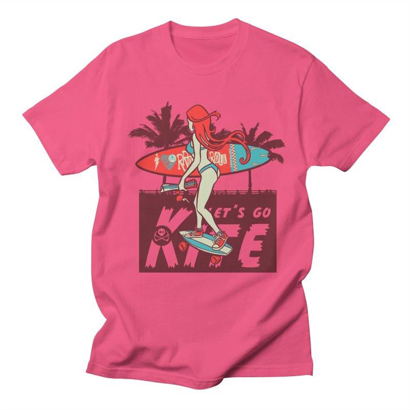Skate Kitegirl Men's Regular T-Shirt by kitersoze