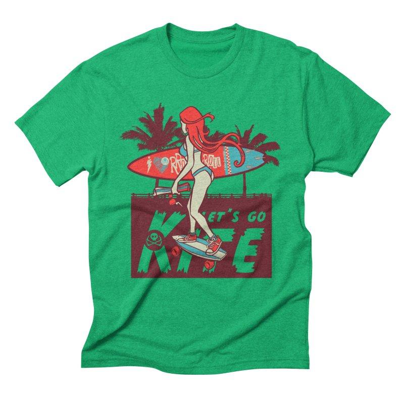 Skate Kitegirl Men's Triblend T-Shirt by kitersoze