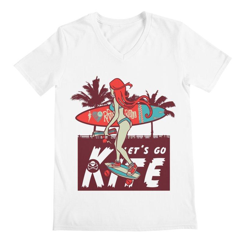 Skate Kitegirl Men's V-Neck by kitersoze