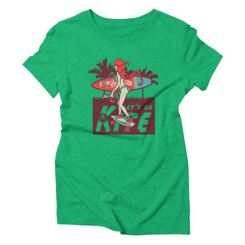 Skate Kitegirl Women's Triblend T-Shirt by kitersoze