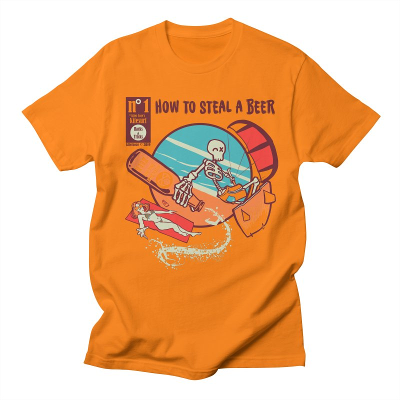 Trick 1 - How to steal a Beer Men's Regular T-Shirt by kitersoze