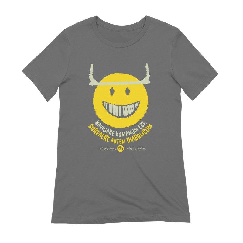 Diabolicum Kite Smile #yellow Women's T-Shirt by kitersoze