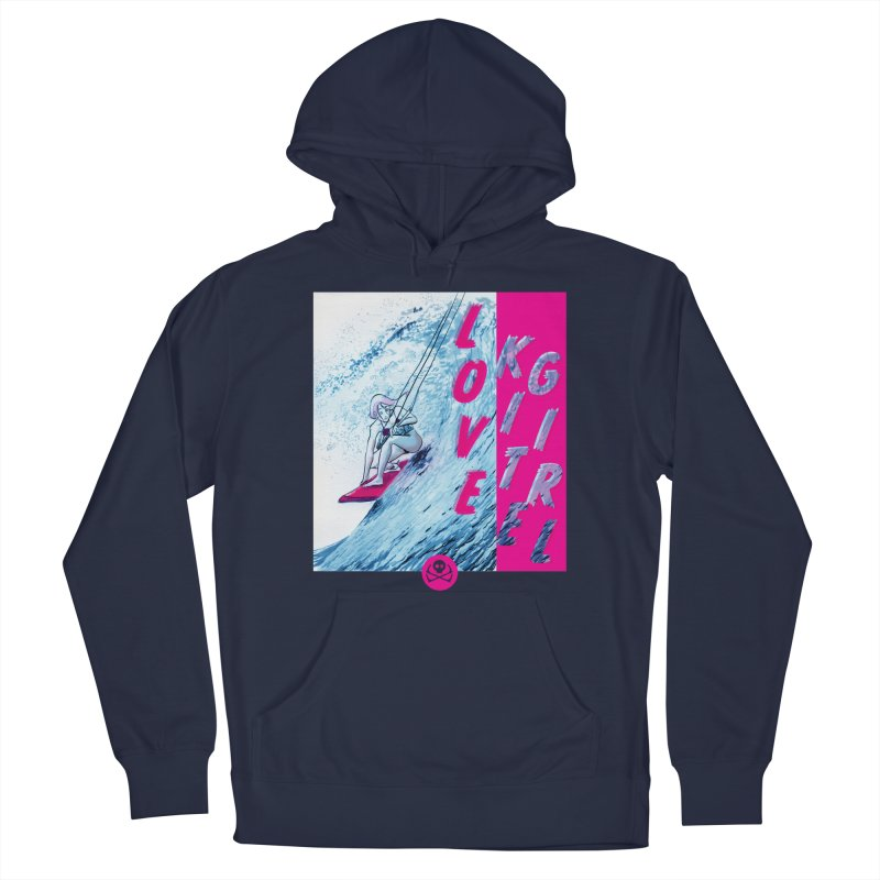 Love Kite Girl Men's Pullover Hoody by kitersoze