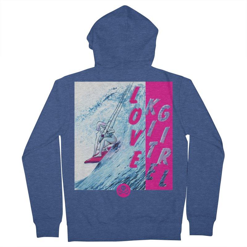 Love Kite Girl Men's Zip-Up Hoody by kitersoze