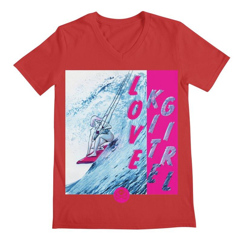 Love Kite Girl Men's V-Neck by kitersoze