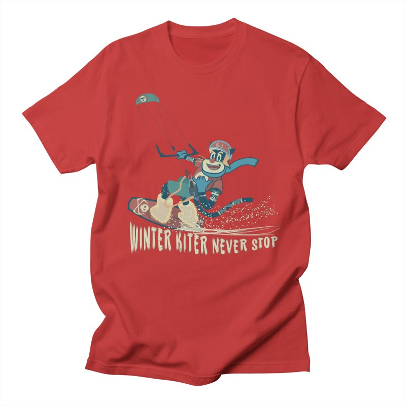 Winter Kiter Men's T-Shirt by kitersoze