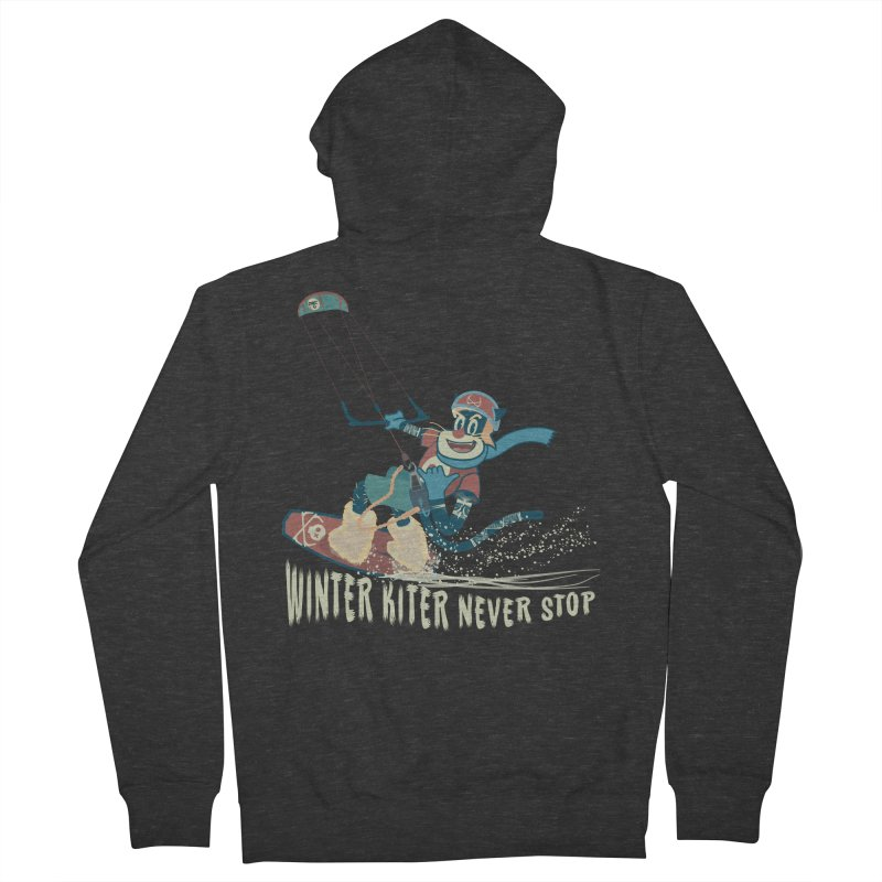 Winter Kiter Men's French Terry Zip-Up Hoody by kitersoze