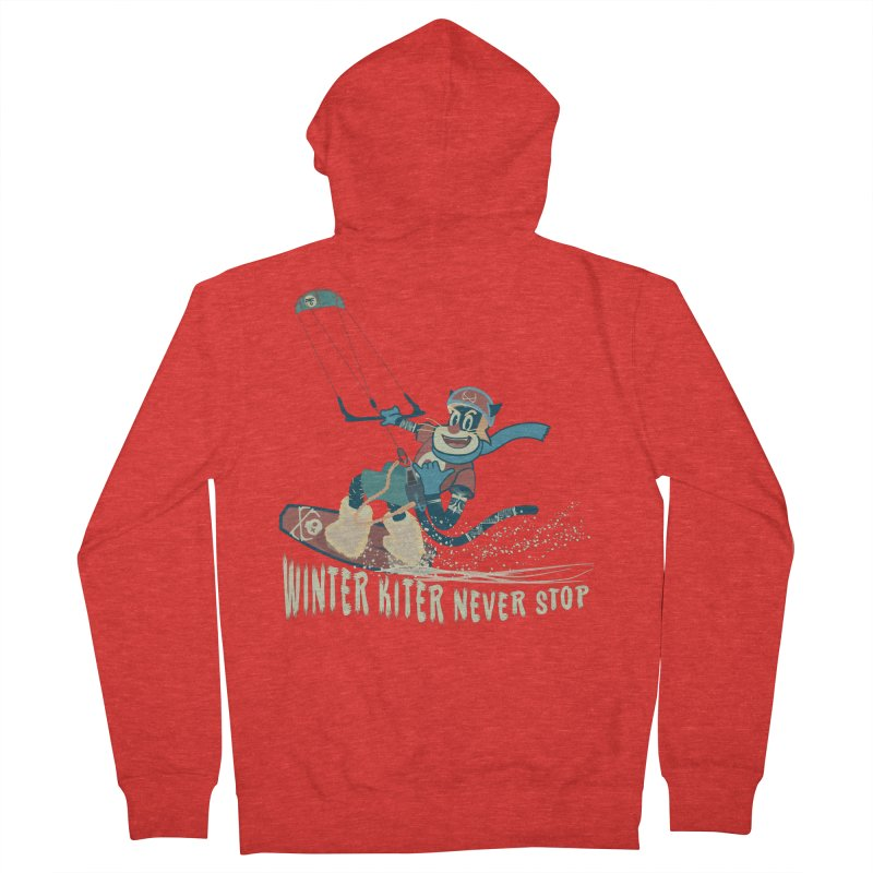 Winter Kiter Men's Zip-Up Hoody by kitersoze