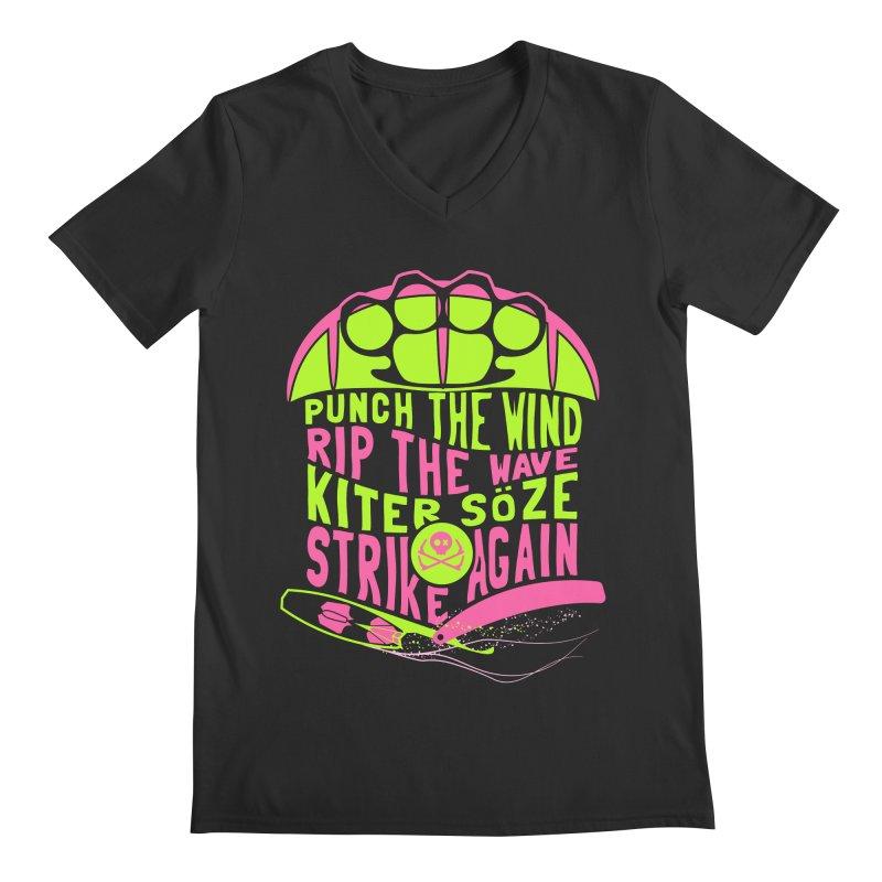 Kiter Punch_pop Men's Regular V-Neck by kitersoze