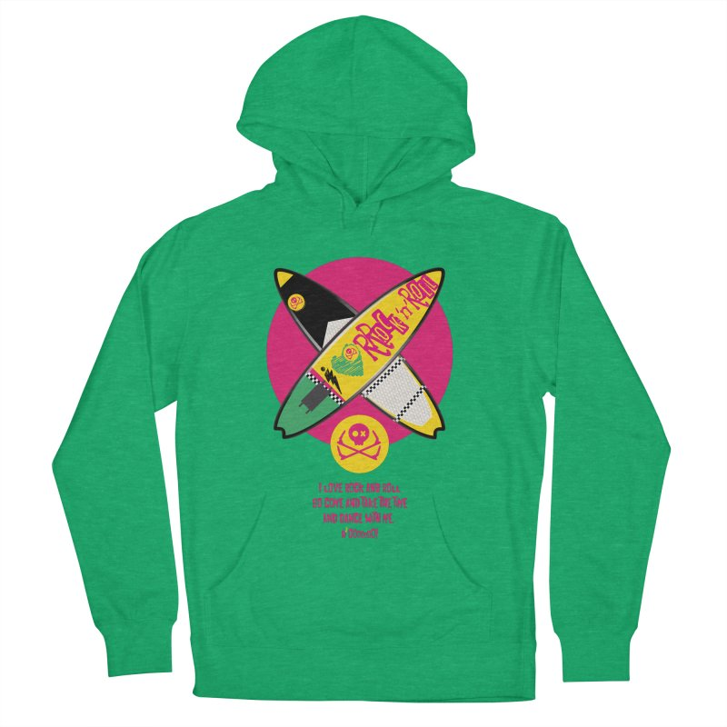 I Love Rock'n'Roll Women's French Terry Pullover Hoody by kitersoze