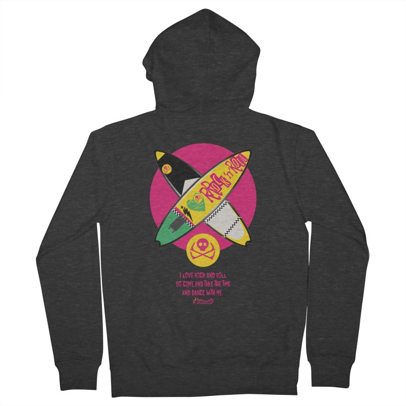 I Love Rock'n'Roll Men's French Terry Zip-Up Hoody by kitersoze