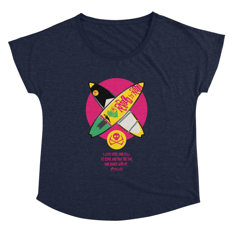 I Love Rock'n'Roll Women's Dolman Scoop Neck by kitersoze
