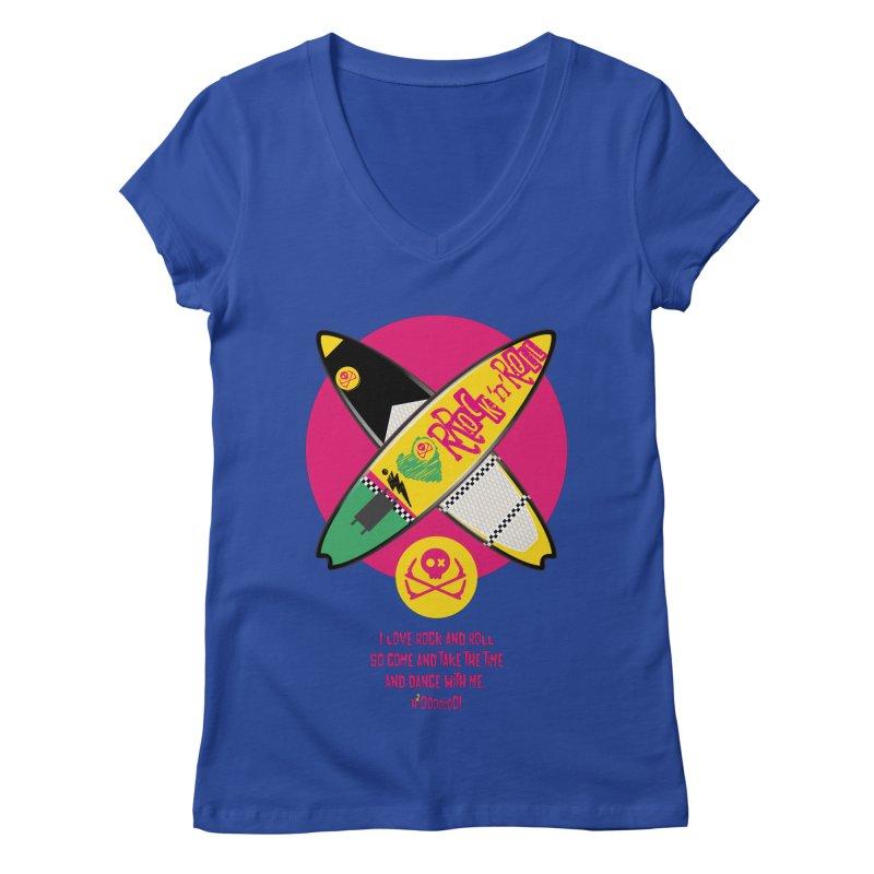 I Love Rock'n'Roll Women's Regular V-Neck by kitersoze