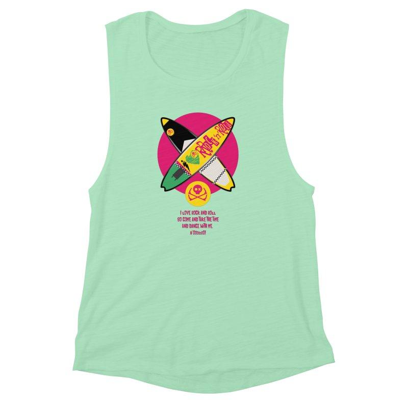I Love Rock'n'Roll Women's Muscle Tank by kitersoze