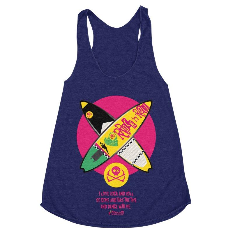 I Love Rock'n'Roll Women's Racerback Triblend Tank by kitersoze