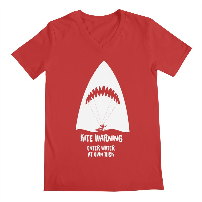 Kite Warning Men's V-Neck by kitersoze