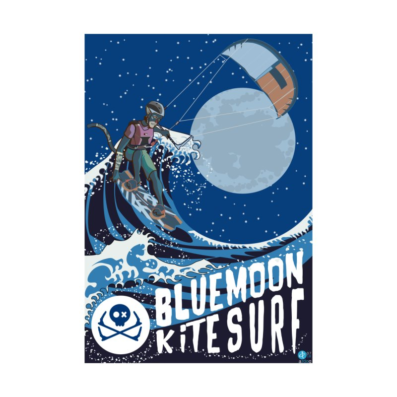 BlueMoon KiteSurf Men's T-Shirt by kitersoze