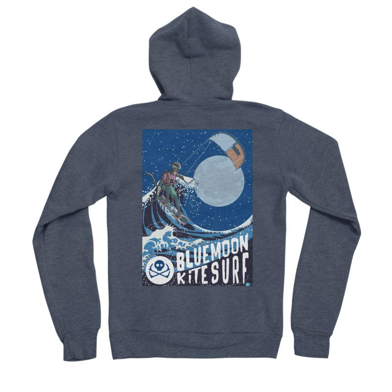BlueMoon KiteSurf Men's Sponge Fleece Zip-Up Hoody by kitersoze