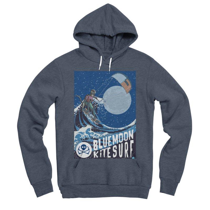 BlueMoon KiteSurf Men's Sponge Fleece Pullover Hoody by kitersoze