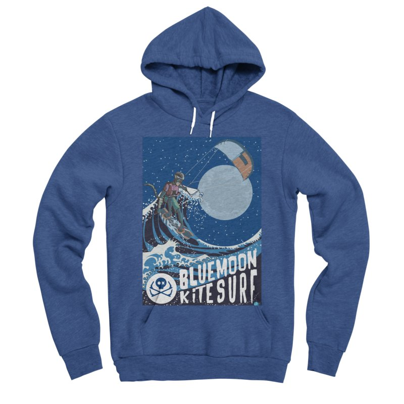 BlueMoon KiteSurf Men's Sponge Fleece Pullover Hoody by kitersoze
