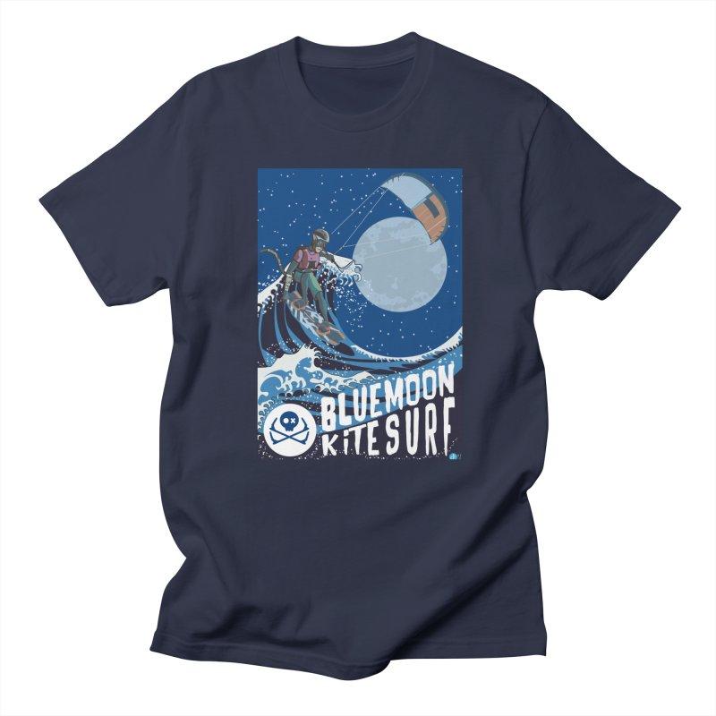 BlueMoon KiteSurf in Men's Regular T-Shirt Navy by kitersoze
