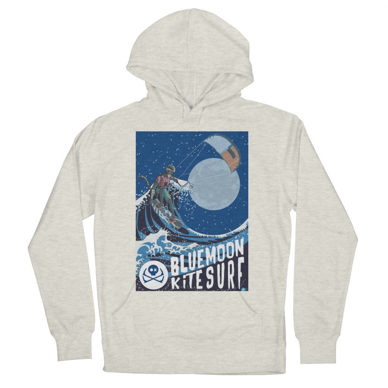 BlueMoon KiteSurf Men's French Terry Pullover Hoody by kitersoze