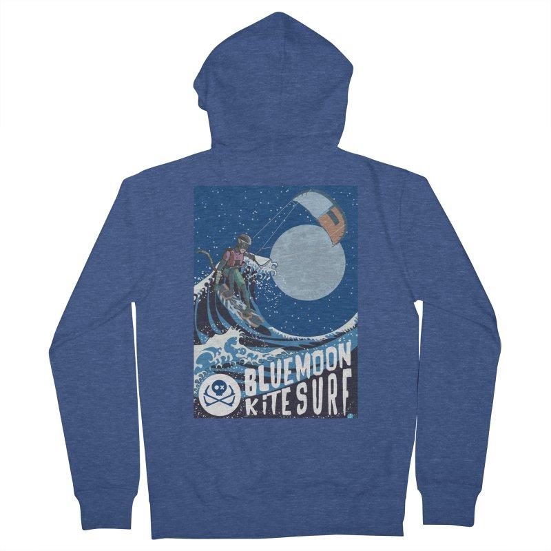 BlueMoon KiteSurf Men's Zip-Up Hoody by kitersoze