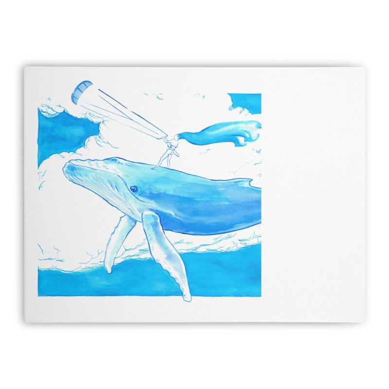 The Kite, the Girl and the Blu Whale Home Stretched Canvas by kitersoze