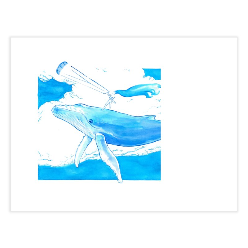 The Kite, the Girl and the Blu Whale Home Fine Art Print by kitersoze