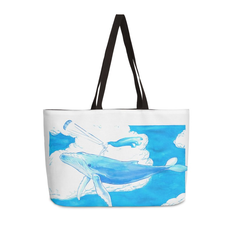 The Kite, the Girl and the Blu Whale Accessories Weekender Bag Bag by kitersoze