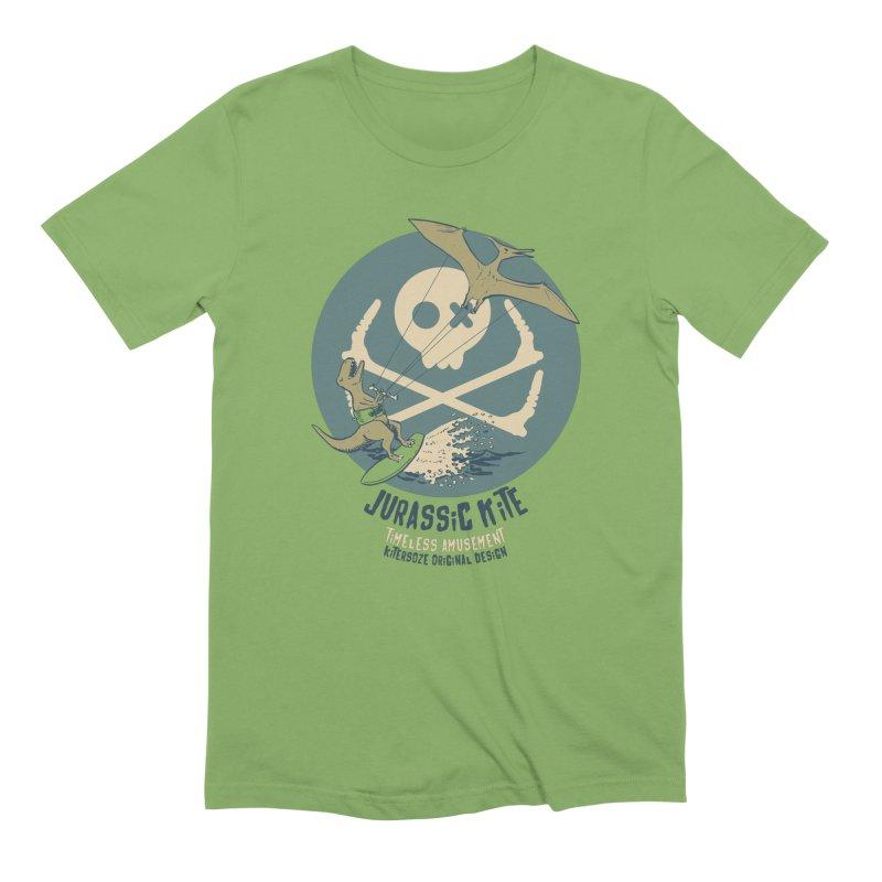 Jurassic Kite 1 in Men's Extra Soft T-Shirt Avocado by kitersoze