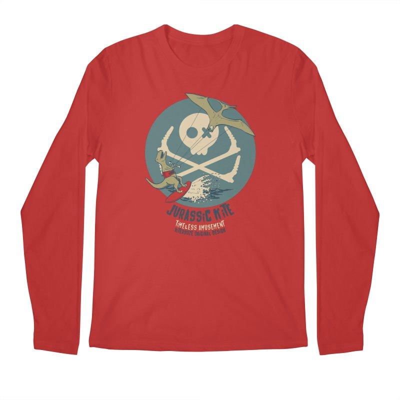 Jurassic Kite 1 in Men's Regular Longsleeve T-Shirt Red by kitersoze