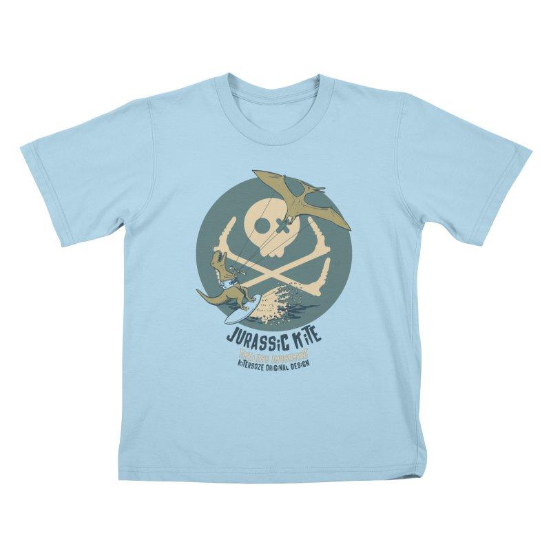 Jurassic Kite 1 Kids T-Shirt by kitersoze