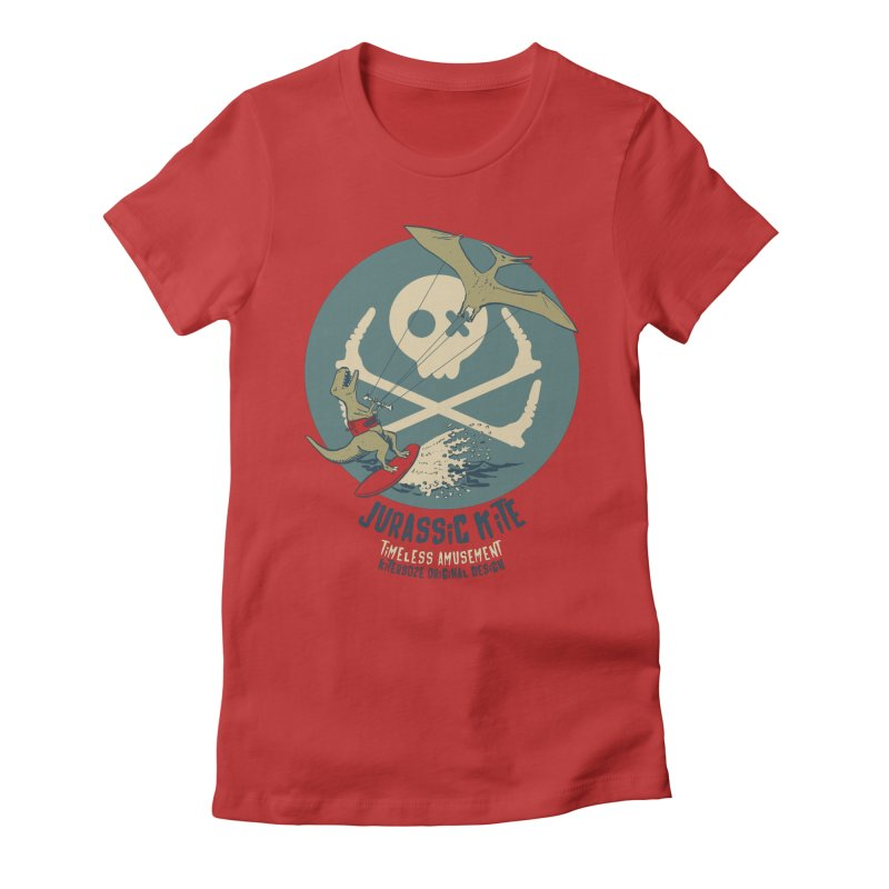 Jurassic Kite 1 Women's Fitted T-Shirt by kitersoze