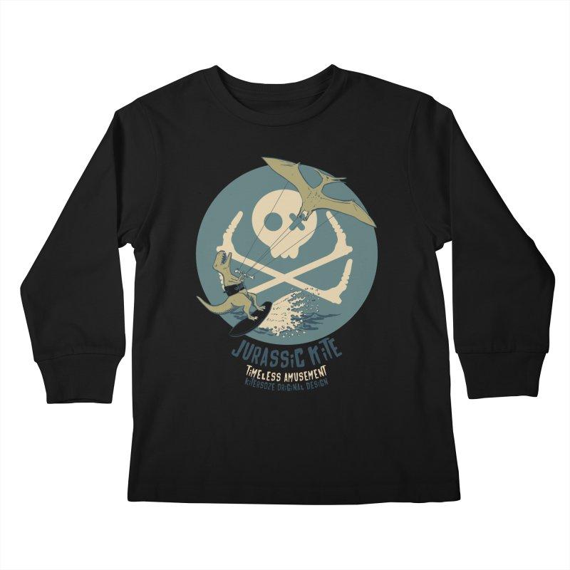 Jurassic Kite 1 Kids Longsleeve T-Shirt by kitersoze