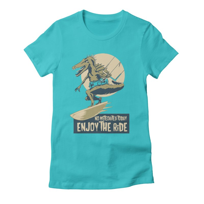 Jurassic Kite 2 Women's Fitted T-Shirt by kitersoze