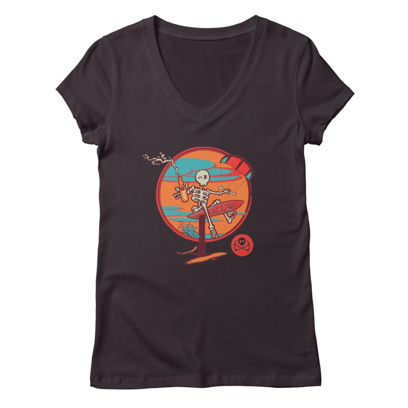 Foil and Beer Women's Regular V-Neck by kitersoze