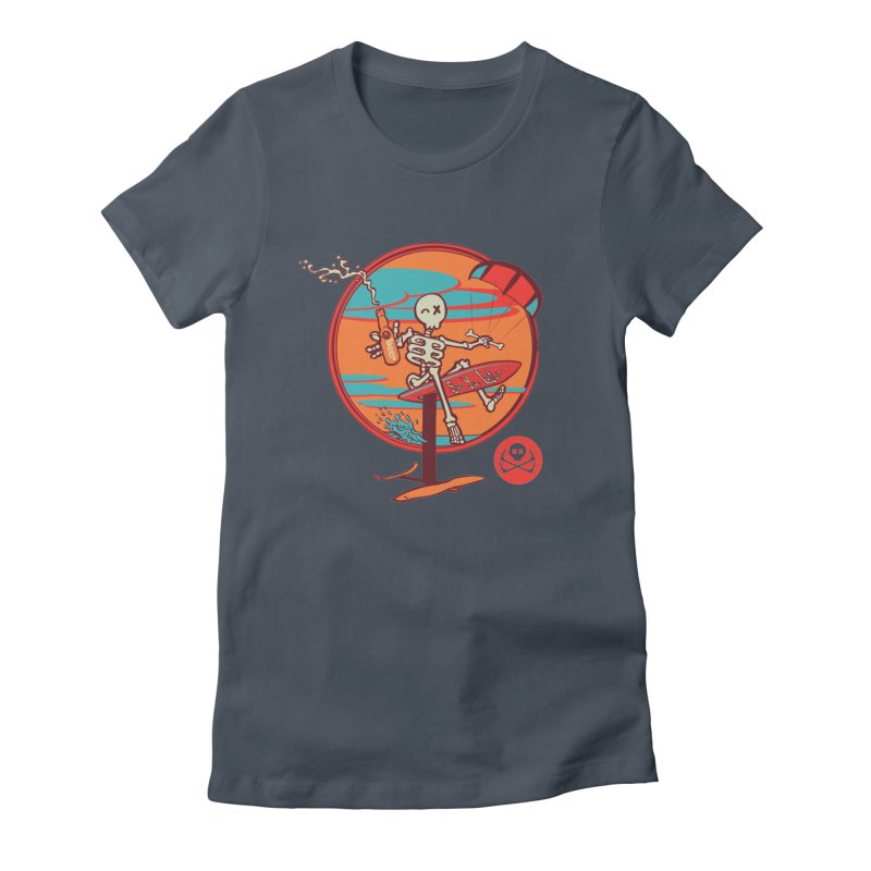 Foil and Beer Women's Fitted T-Shirt by kitersoze