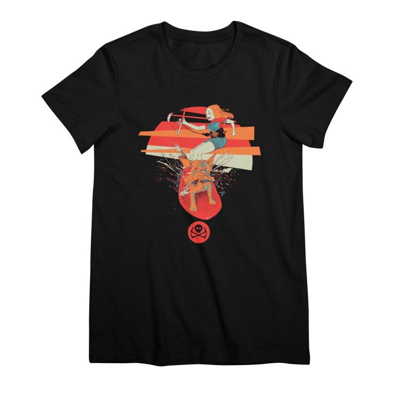 Kite Dog Women's Premium T-Shirt by kitersoze