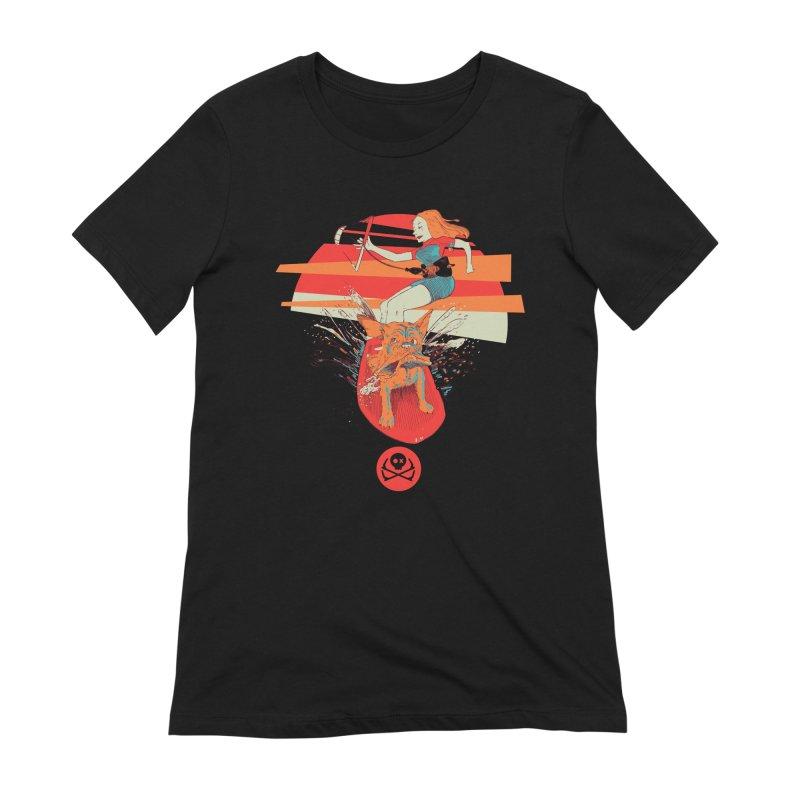 Kite Dog Women's Extra Soft T-Shirt by kitersoze