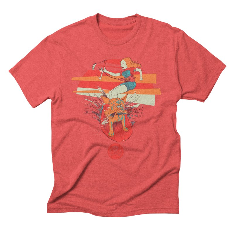 Kite Dog Men's Triblend T-Shirt by kitersoze