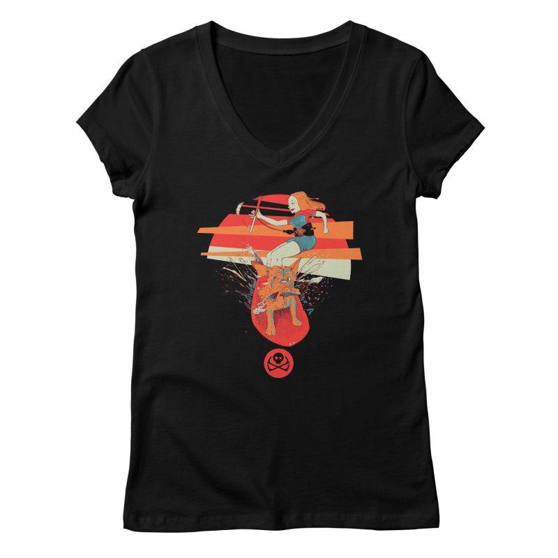 Kite Dog Women's V-Neck by kitersoze