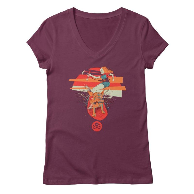Kite Dog Women's Regular V-Neck by kitersoze