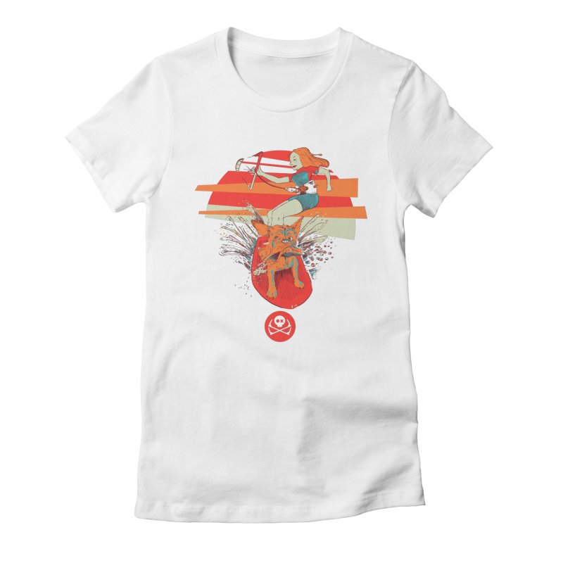 Kite Dog Women's Fitted T-Shirt by kitersoze