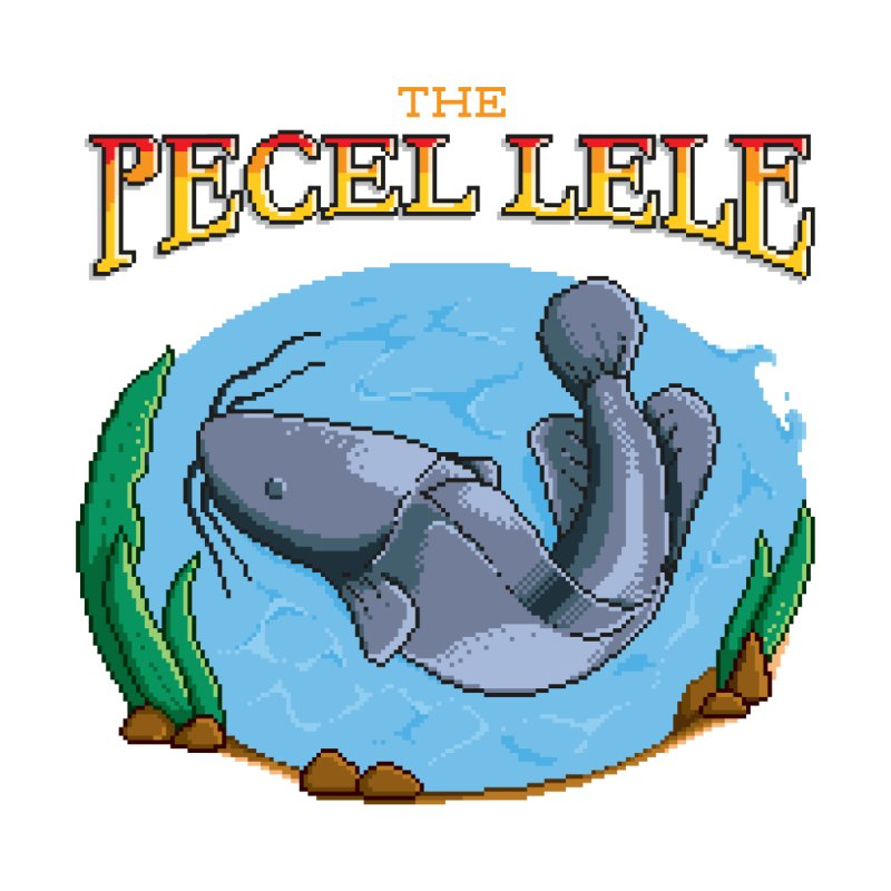 the pecel lele (indonesian fried catfish stall) Men's T-Shirt by kitschkultur's Artist Shop
