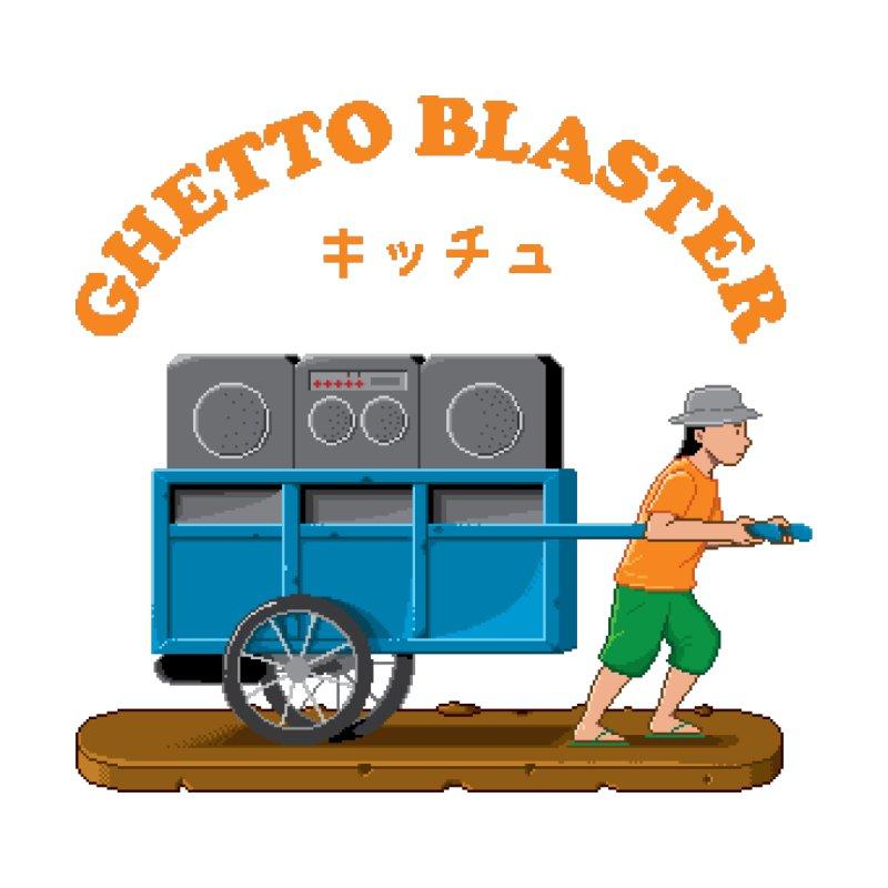 Kitsch Ghetto Blaster Pixel Men's T-Shirt by kitschkultur's Artist Shop