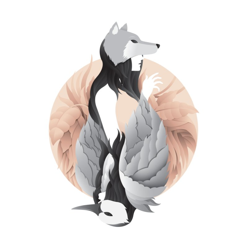 the swan and the wolf Men's T-Shirt by kitschkultur's Artist Shop